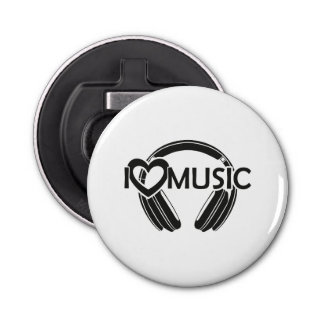 I love music headphones bottle opener