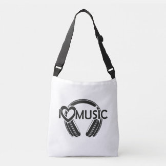 I love music headphones crossbody bag