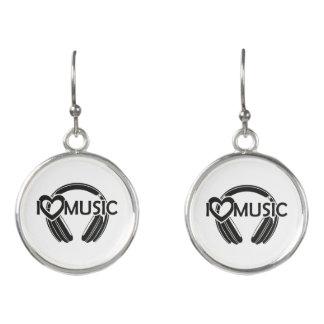 I love music headphones earrings