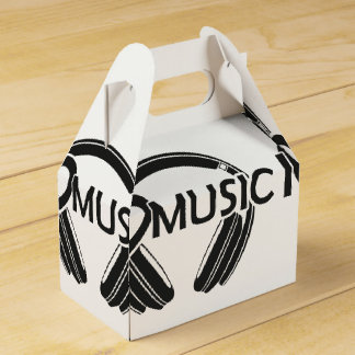 I love music headphones favour box