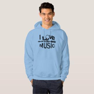 i love music hoodie