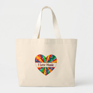 I Love Music Large Tote Bag