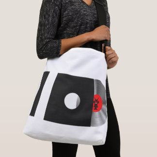 I LOVE MUSIC/LOVE SAVES THE DAY -back print Crossbody Bag