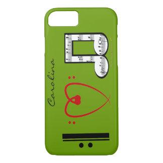 I Love Music Lovers Custom Name iPhone 7 case