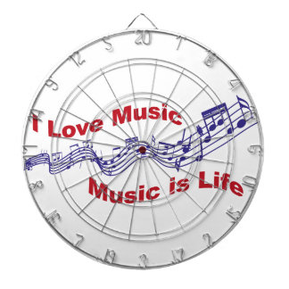 I love music Music is life Dart Boards