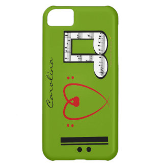I Love Music Music Lovers Custom Name iphone 5 iPhone 5C Case