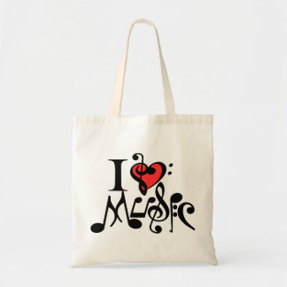 i love music,music,musician budget tote bag