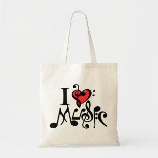 i love music,music,musician bags