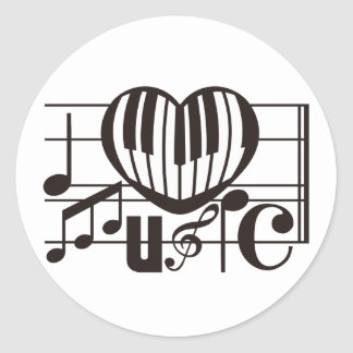I LOVE MUSIC STICKERS