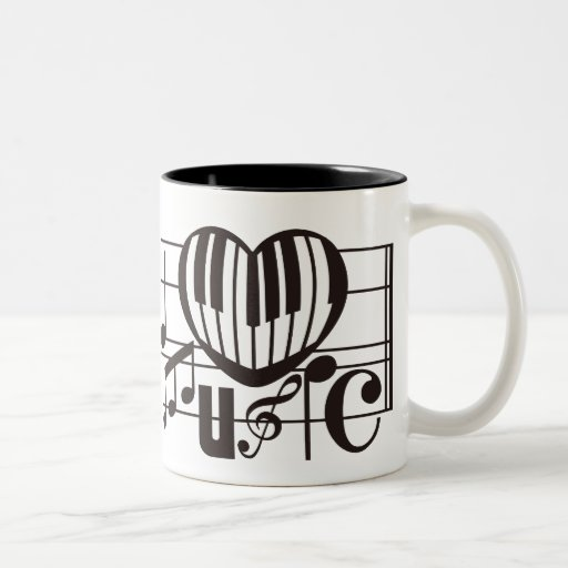 I LOVE MUSIC Two-Tone MUG