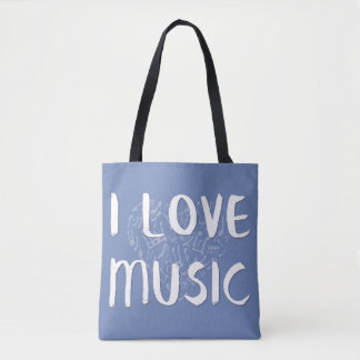 I Love Music With Heart Tote Bag