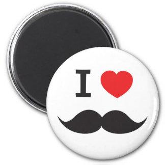 I Love Mustache Refrigerator Magnets