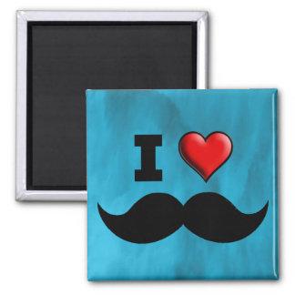 I Love Mustache Moustache Stache Fridge Magnets