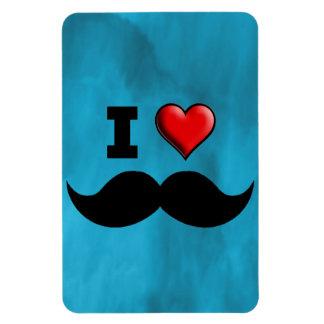 I Love Mustache Moustache Stache Vinyl Magnet