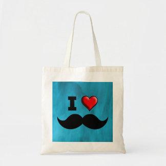 I Love Mustache Moustache Stache Tote Bags
