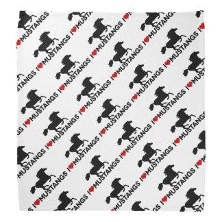 I Love Mustangs - Bandana