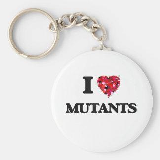 I Love Mutants Basic Round Button Key Ring