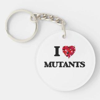 I Love Mutants Single-Sided Round Acrylic Key Ring