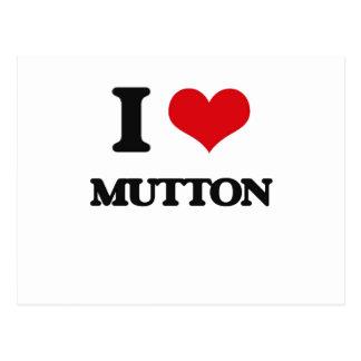 I Love Mutton Postcard