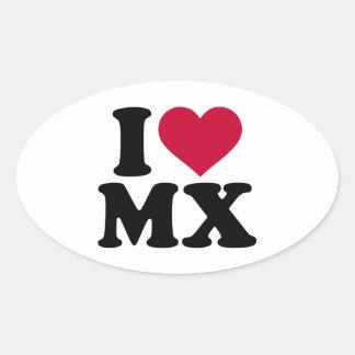 I love MX Motocross Oval Sticker