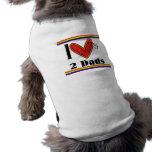 I love my 2 dads sleeveless dog shirt