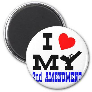 I Love My 2nd Amendment 6 Cm Round Magnet