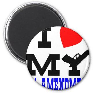 I Love My 2nd Amendment Fridge Magnets