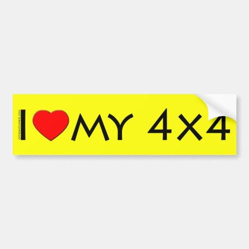 I love my 4x4 Bumper Sticker