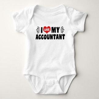 I Love My Accountant Baby Bodysuit