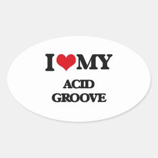 I Love My ACID GROOVE Sticker