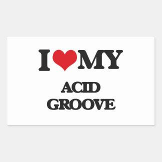 I Love My ACID GROOVE Rectangle Sticker