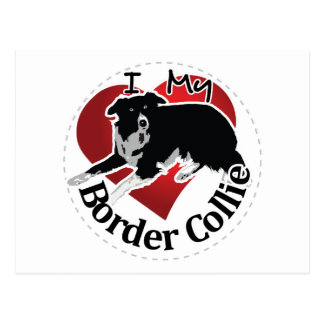 I Love My Adorable Funny & Cute Border Collie Dog Postcard