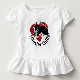 I Love My Adorable Funny & Cute Border Collie Dog Toddler T-Shirt