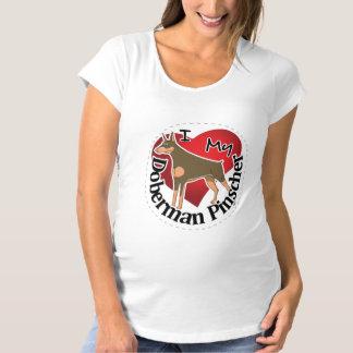 I Love My Adorable Funny & Cute Doberman Pinscher Maternity T-Shirt