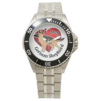 I Love My Adorable Funny & Cute German Shepherd Watch