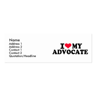 I love my Advocate Business Card