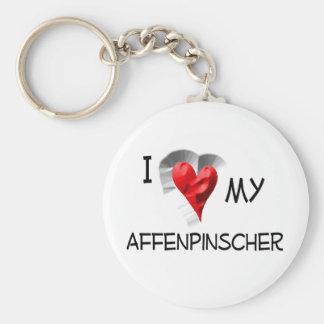 I Love My Affenpinscher Basic Round Button Key Ring
