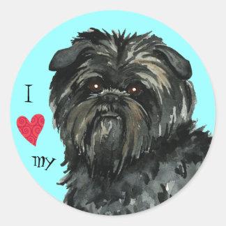 I Love my Affenpinscher Classic Round Sticker
