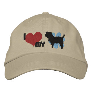I Love my Affenpinscher Embroidered Hat