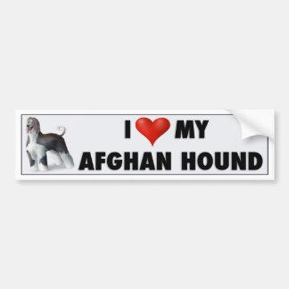 I Love My Afghan Hound AH1 Bumper Sticker