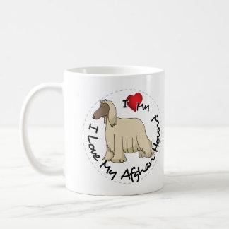 I Love My Afghan Hound Dog Coffee Mug