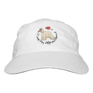 I Love My Afghan Hound Dog Hat