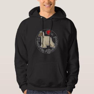 I Love My Afghan Hound Dog Hoodie