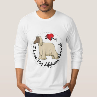 I Love My Afghan Hound Dog T-Shirt