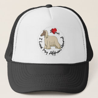 I Love My Afghan Hound Dog Trucker Hat