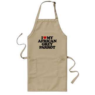 I LOVE MY AFRICAN GREY PARROT APRONS