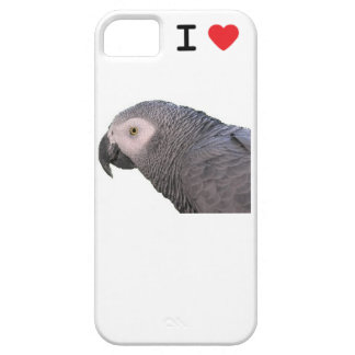 I LOVE MY African Grey Parrot Case For The iPhone 5
