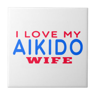 I Love My Aikido Wife Small Square Tile