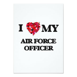 I love my Air Force Officer 5x7 Paper Invitation Card