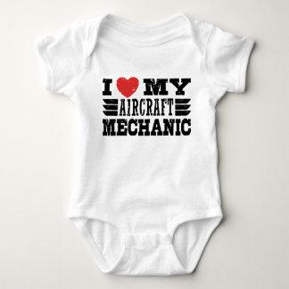 I Love My Aircraft Mechanic Baby Bodysuit
